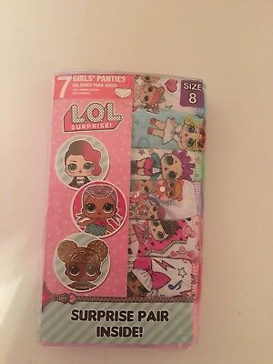 LOL Surprise Girl Underwear Panties - SIZE 8 made by Handcraft