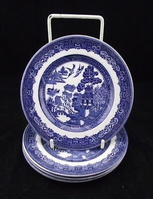 "4  Johnsons Bro   Blue Willow  6"" Mixed Backstamp Lot Plates"
