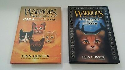 Lot 2 WARRIORS Hardcover Books by Erin Hunter Cats of the Clans, Secrets Clans