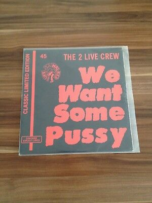 The 2 Live Crew ´we Want Some Pussy ´ Classic Limited Edition Rap Vinyl