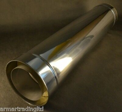 Stainless Steel Twin Wall Insulated Chimney Flue Liner Multi Fuel Stoves Pipe
