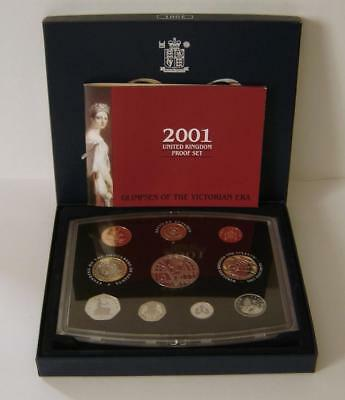 A Royal Mint United Kingdom 2001 Proof Coin Set Of 10 Coins