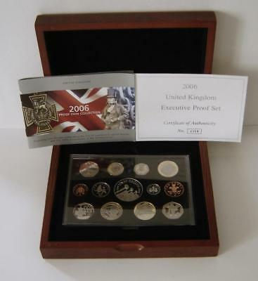 A Royal Mint United Kingdom 2006 Executive Proof Coin Collection Of 13 Coins
