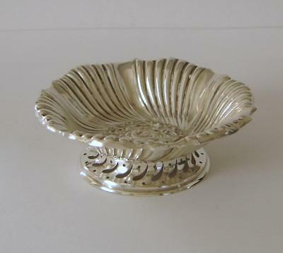An Ornately Embossed Victorian Sterling Silver Pedestal Bowl Birmingham 1891