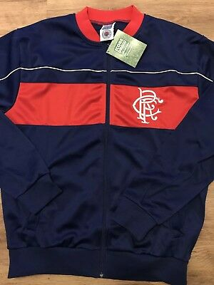 Brand New Mens Glasgow Rangers Vintage Retro Track Top ,new With Tags Xl Ibrox