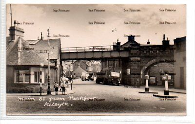 POSTCARD Stirlingshire Main Street from Parkfoot Kilsyth