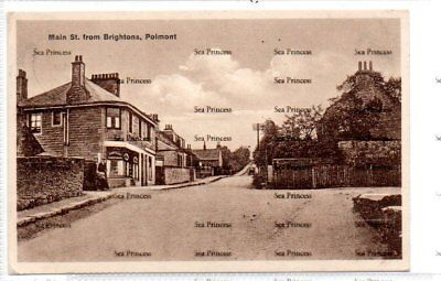 POSTCARD Stirlingshire Main Sreet from Brightons Polmont