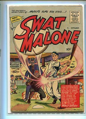 Swat Malone #1 Solid Grade Great Baseball Action Cover
