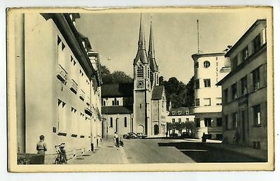 Cpa Photo Luxembourg Diekirch Eglise St Laurent + Batiment Des Ptt 1956