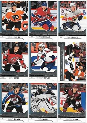 U PICK EM LOT 2017-18 17-18 Upper Deck Series 1 & 2 YG RC Young Guns Rookie card