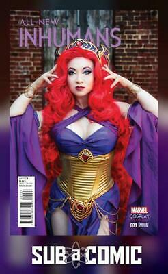 ALL NEW INHUMANS #1 COSPLAY VARIANT (MARVEL 2015 1st Print) COMIC