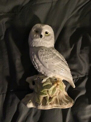 """Snow Owl- 8"""" Ceramic- Made in Canada- Little Wear See Pics NICE"""
