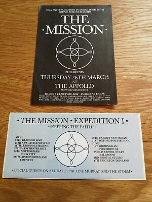 Rare Original The Mission Expedition 1 Promo Tour Sticker 1986 + Children Flyer
