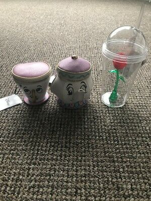 BNWT beauty And The Beast Chip And Mrs Potts Purse And Rose Cup