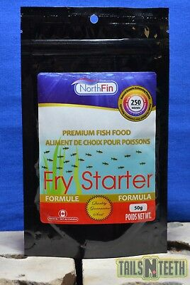 NorthFin Fry Starter - 250 Micron 50g - Premium Fish Food - Made in Canada