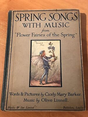 Spring Songs With Music * Flower Fairies * Cicely Mary Barker Vintage