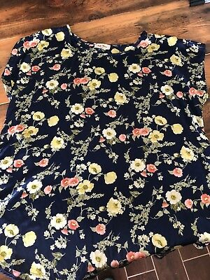 Full Moon Maternity & Stitch Fix, Women's XL Sabrea Crew Neck Floral Blouse, NWT
