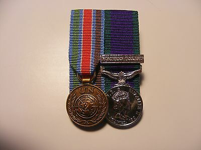 UN Bosnia & General Service Medal Northern Ireland Miniature Medals Mounted GSM