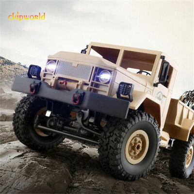 1/16 RC Crawler Military Vehicles 4WD 2.4G Remote Control Motorcycle Xmas Toys
