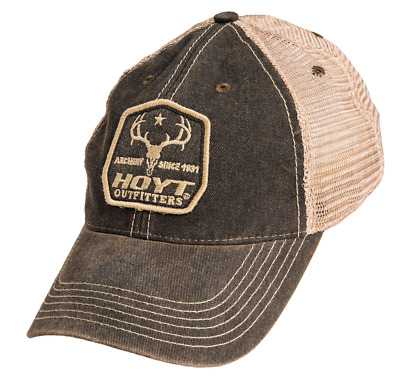 """@NEW@ 2018 Team Hoyt Archery """"Old Favorite"""" Brown Compound Bow Cap Hat"""