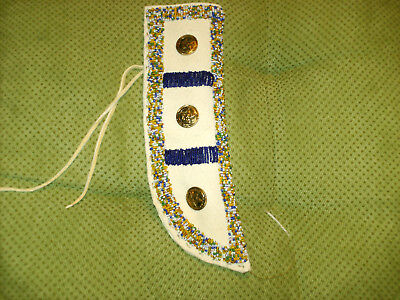 Partly  Beaded Knife Sheath With Oklahoma Buttons