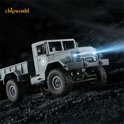 1:16 2.4G 4WD RC Military Truck Crawler Off Road Car RC RTR Bright Front Light