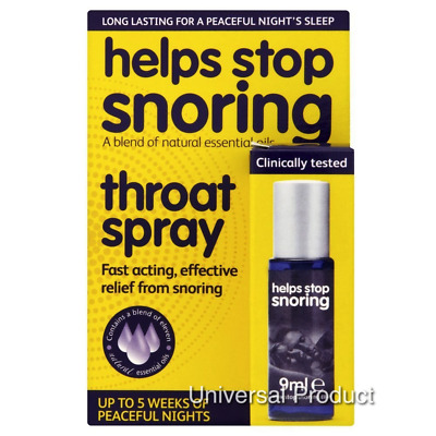 Helps Stop Snoring Snore Anti Relief Throat Spray 9ml