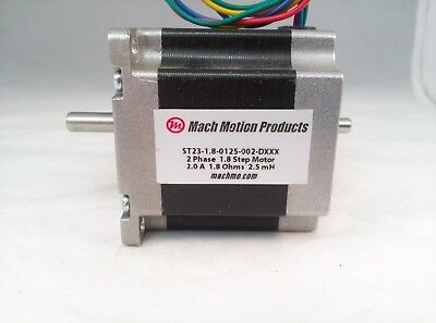 NEMA 23 Stepper Motor, 125 Oz-in Holding Torque, 2.0 A/ph, 1.8° Step Angle