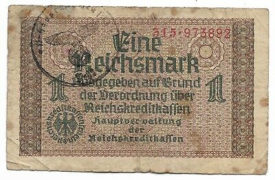 Rare Very Old WWII Germany Reichsmark Note Dollar Great Collection Bill LOT:Y51
