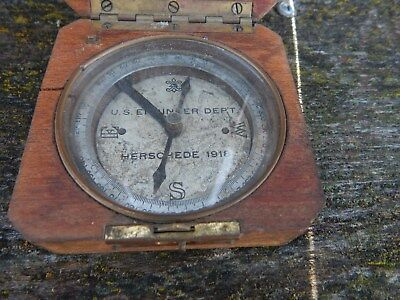 Us Government Engineer Dept Compass - Herchede 1918