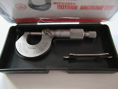 "Mitutoyo 101-230, 0 To .5"" Micrometer, In Original Case W/ Wrench.excellent Cond"