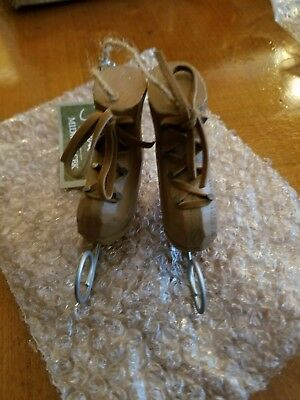 New Brown Boot Ice Skates Ornament Midwest CBK
