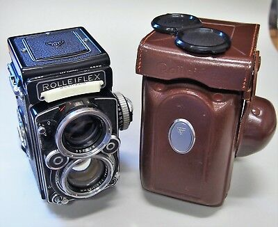 Rolleiflex Made In Germany Rare 2.8F Lens TLR Medium Format Camera And Case