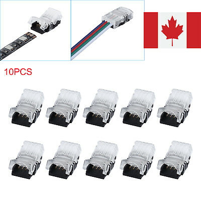 10× 4pin RGB LED Wire Connector Connect for 10mm 5050 RGB Waterproof LED Strip