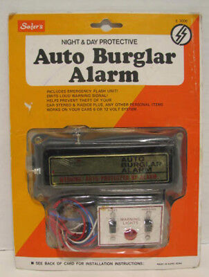 "Vintage 70s 80s Safer E 3006 Car Auto Burglar Alarm 6 and 12 Volt ""NEW"""