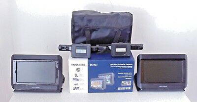Nextbase Click 9 Duo Deluxe Twin Portable Car DVD Player Screen Mount Used