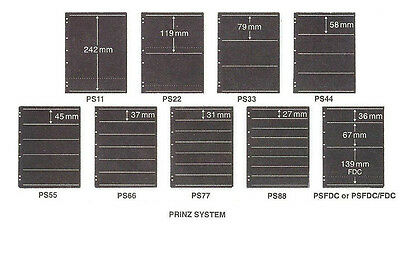 Prinz System DOUBLE SIDE Stocksheets (Std size) Packs of 5. USED