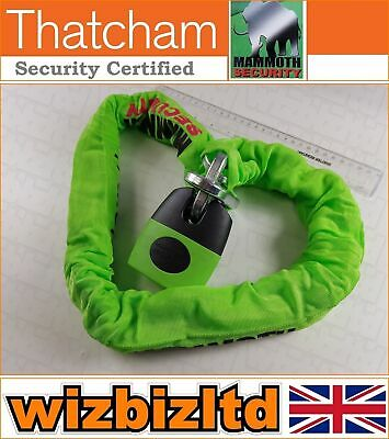 Motorcycle Mammoth Square Chain with Shackle Lock 12MM x 1.2M Thatcham LOCM007