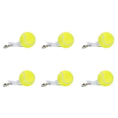 6 x Tennis Replacement Ball Totem Backyard Trainer Spare Hook String 2 x 3 Pack