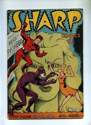 Sharp Comics #2 - H.C. Blackerby Publications 1946 - VG- - The Pioneer
