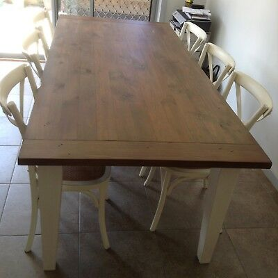Early Settler Dining Table Provincial/French Style (chairs not included)