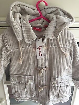 Sprout toddler Boy or Girl winter Jacket Size 2 BNWT