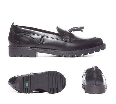 Kickers Lachly Black Loafer Youth School / Formal Shoes RRP £49.99
