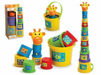 Gerry The Giraffe Baby Toddler Stacking Nesting Cup Blocks Toy Activity Fun Time