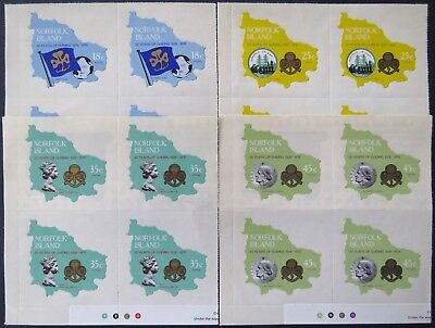 1978 Norfolk Island Stamps - 50th Anniversary of Girl Guides - Set of 4x4 MNH