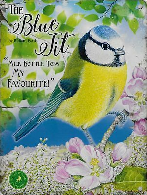 The Blue Tit From The British Wildlife Collection Metal Wall Sign Countryside