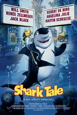 SHARK TALE great original 27x40 D/S movie poster (cb01)