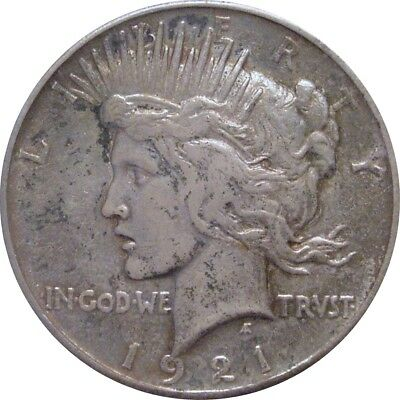 1921 Peace Dollar--Extra Fine--High Relief