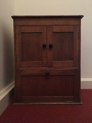 1930s Vintage Hand Restored Oak Cabinet with Bakelite Knobs Courier Possible