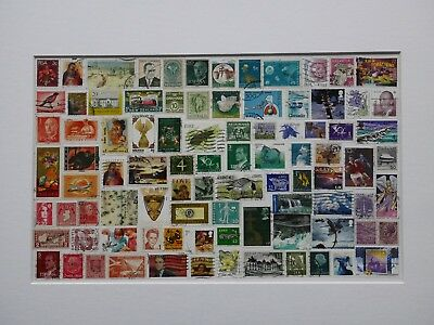 Original artwork, rainbow stamp collage, totally unique one of a kind gift!